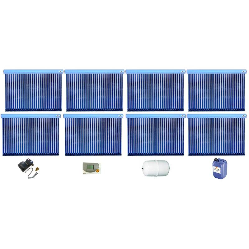 Röhrenkollektor VRK 30 Premium + Solarpaket 16, 8 Kollektoren Gesamtfläche: 40,48 m²