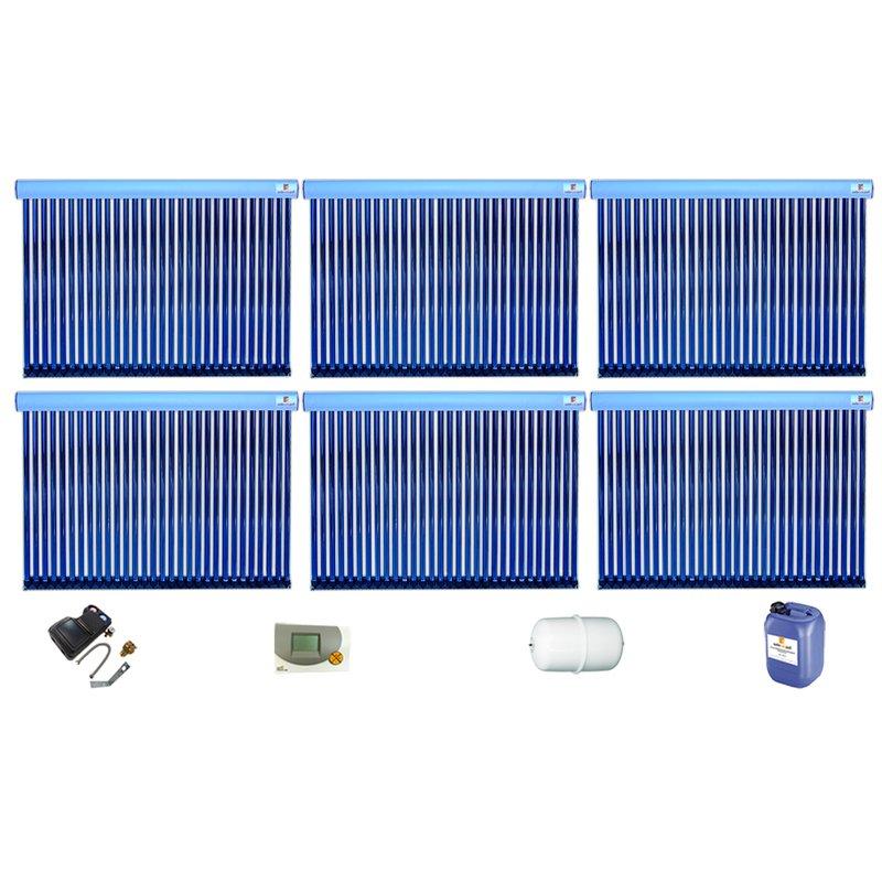 Röhrenkollektor VRK 30 Premium + Solarpaket 12, 6 Kollektoren Gesamtfläche: 30,36 m²