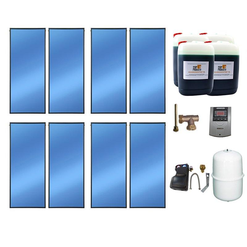 SSP Prosol 24 Solarpaket 8, 8 Kollektoren Gesamtfläche: 19,04 m²