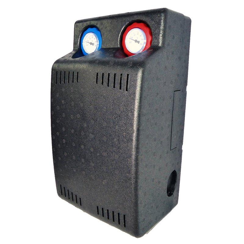 """Heizkreisstation Festwertgeregelt gemischt 1"""" AG mit Grundfos Pumpe 45-65°C"""
