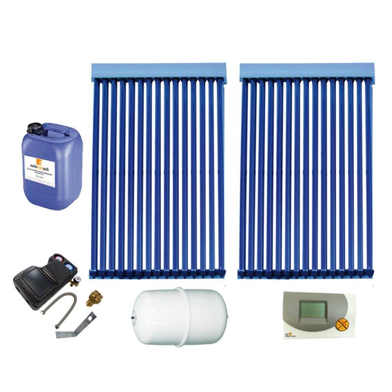 Röhrenkollektor VRK 15 Premium + Solarpaket 2, 2 Kollektoren Gesamtfläche: 5,26 m²