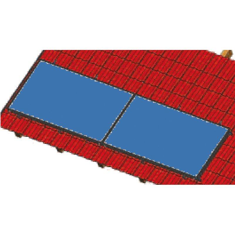 Aufdachmontageset für 1 Kollektor SSP Prosol 24 , waagrecht