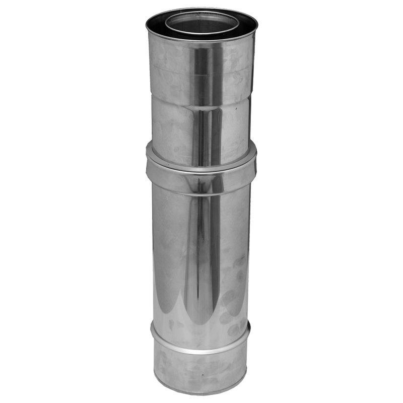 Gas /Öl und Pelletsystem Schiebeelement 320 - 530 mm Ø80/125