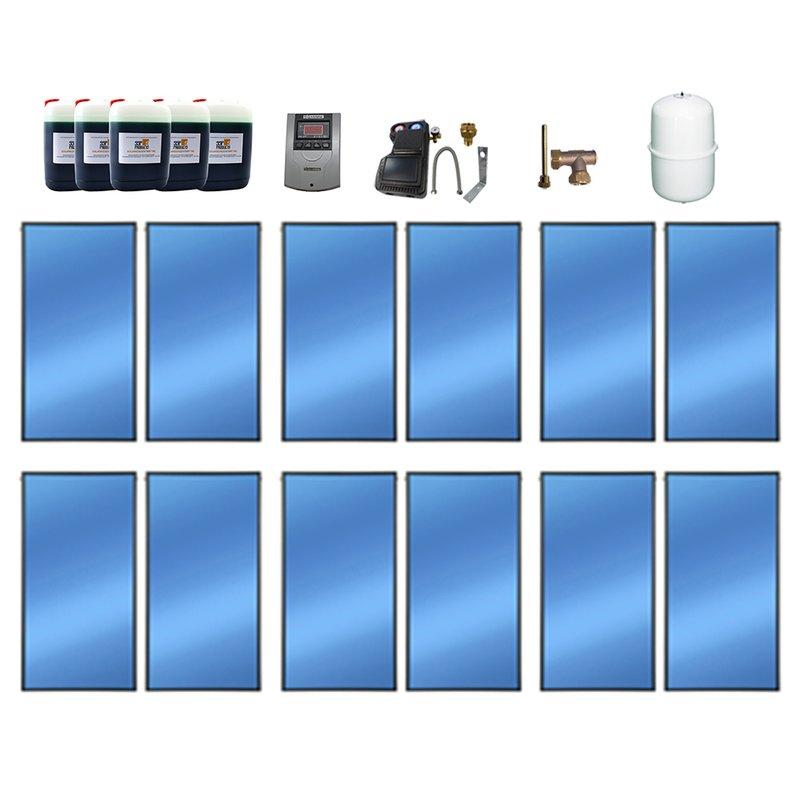 SSP Prosol 24 Solarpaket 12, 12 Kollektoren Gesamtfläche: 28,56 m²