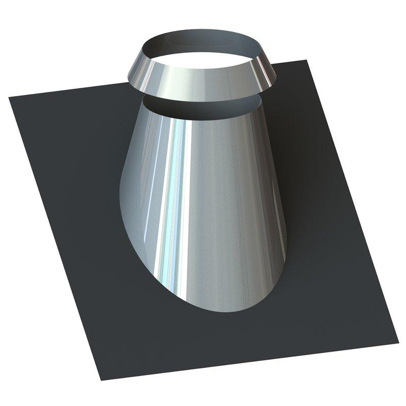 Gas /Öl und Pelletsystem Verstellbare Dachabdeckung 5/30 oder 30/45 Ø80/125