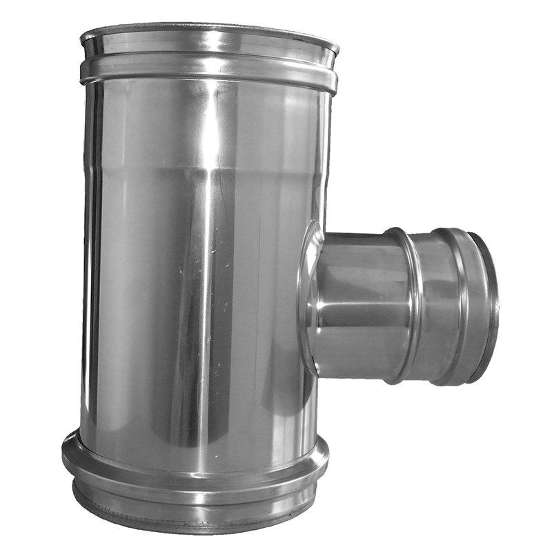 Gas /Öl und Pelletsystem T-Stück Ø80/125