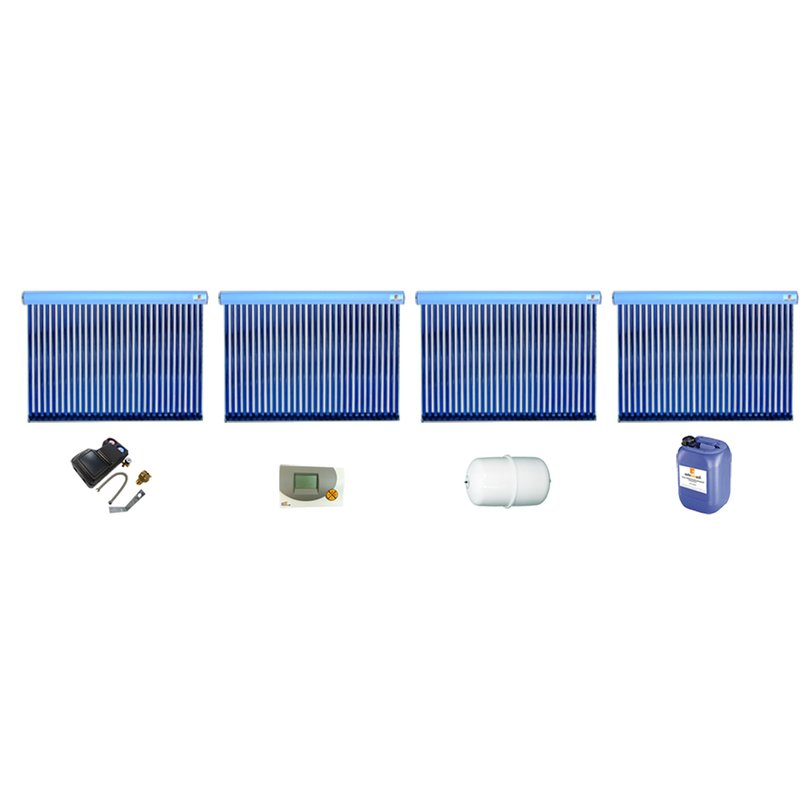Röhrenkollektor VRK 30 Premium + Solarpaket 8, 4 Kollektoren Gesamtfläche: 20,24 m²