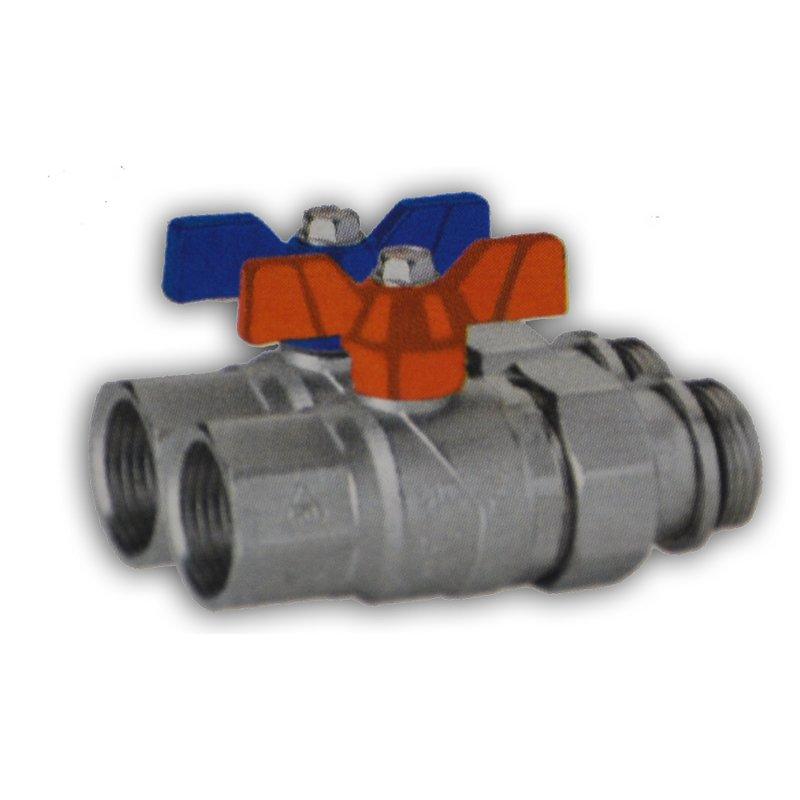 SSP Kugelhahnset für Fußbodenverteiler ( Vorlauf und Rücklauf )