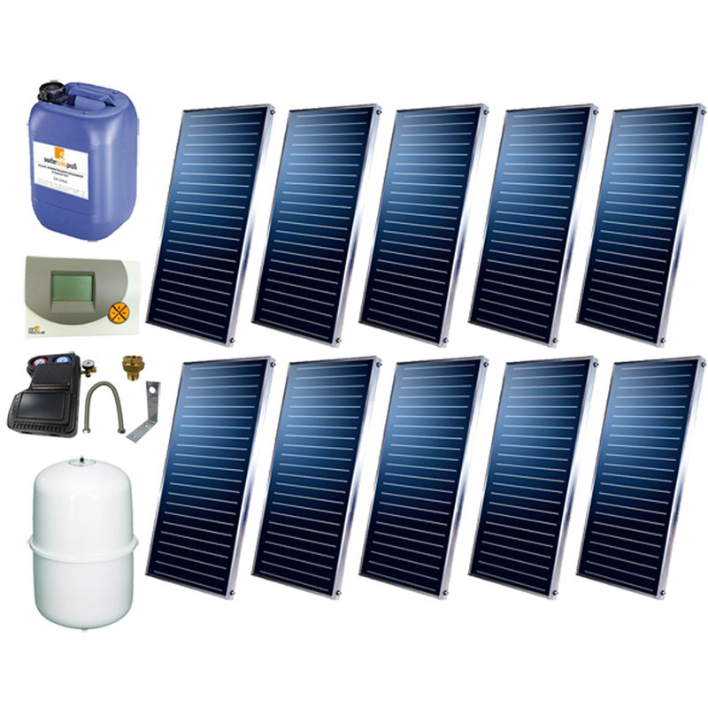 SSP Prosun Solarpaket 10, 10 Kollektoren Gesamtfläche: 20,20 m²