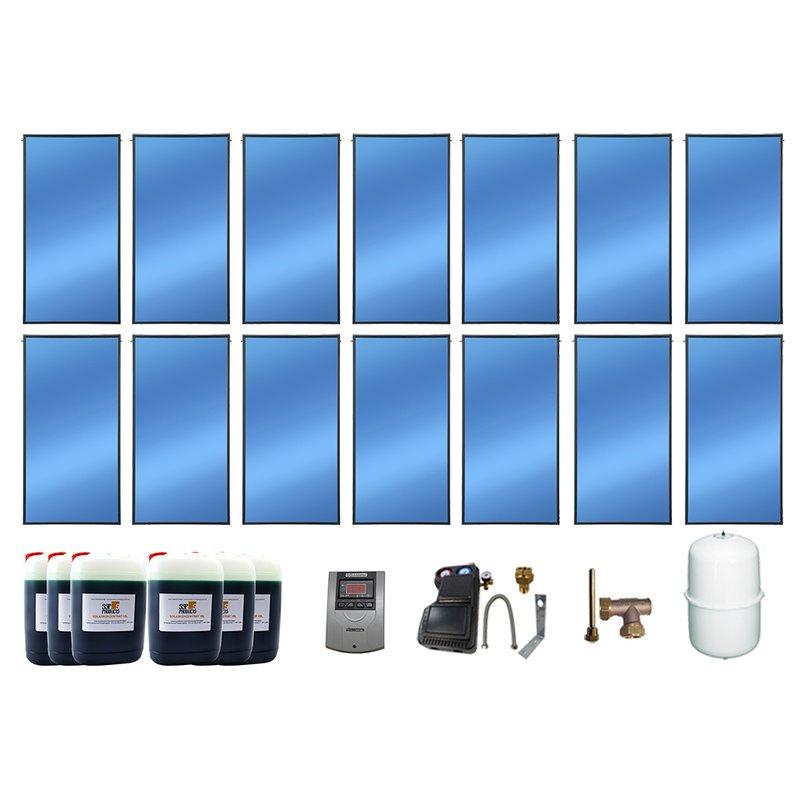SSP Prosol 24 Solarpaket 14, 14 Kollektoren Gesamtfläche: 33,32 m²