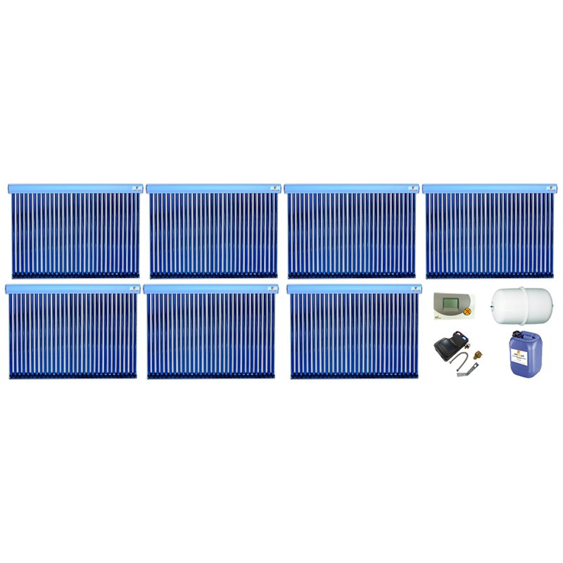 Röhrenkollektor VRK 30 Premium + Solarpaket 14, 7 Kollektoren Gesamtfläche: 35,42 m²