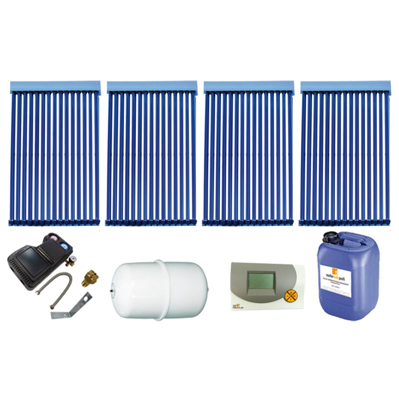 Röhrenkollektor VRK 15 Premium + Solarpaket 4, 4 Kollektoren Gesamtfläche: 10,52 m²